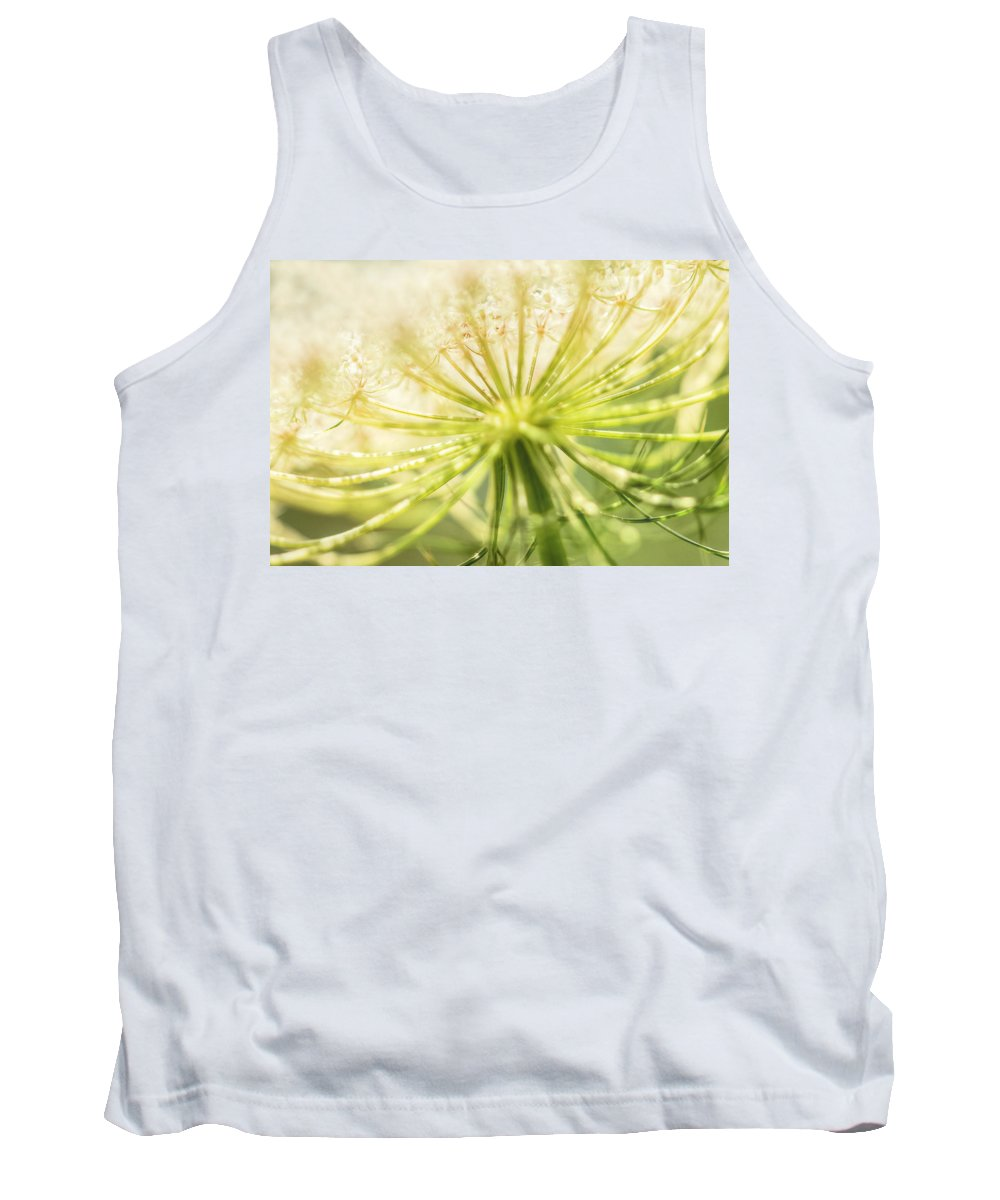 Wildflower Tank Top featuring the photograph Daucus Carota - Queen Anne's Lace - Wildflower by Mother Nature