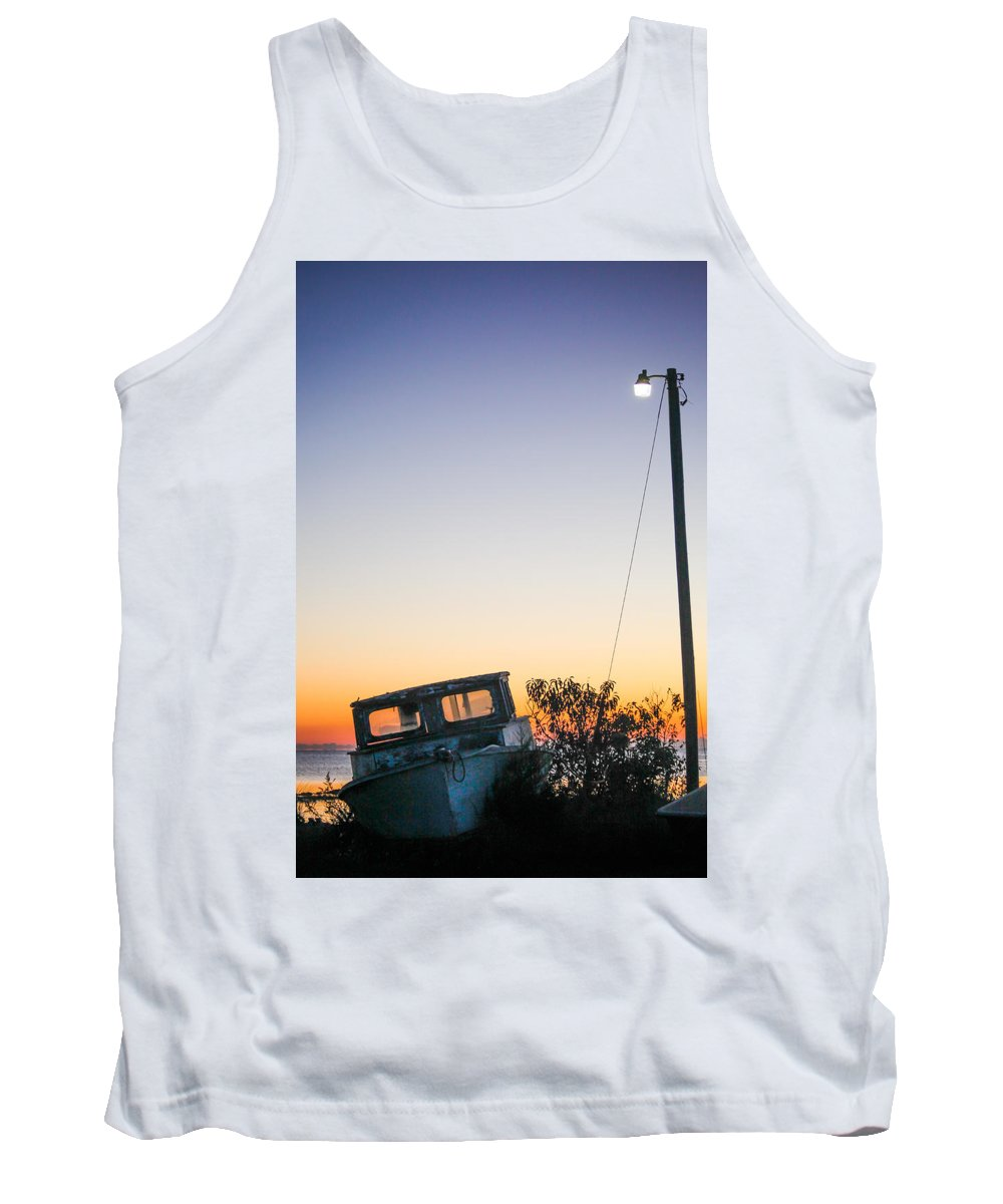 Davis Tank Top featuring the photograph Davis Aground by Paula OMalley