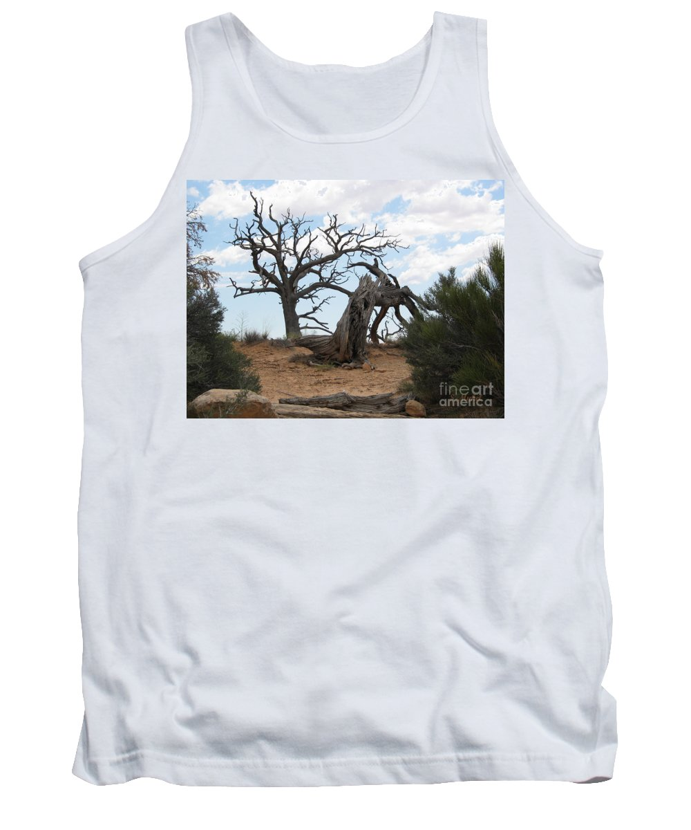 S Mykel Tank Top featuring the photograph Dead Tree - Natural Bridges National Park by S Mykel Photography