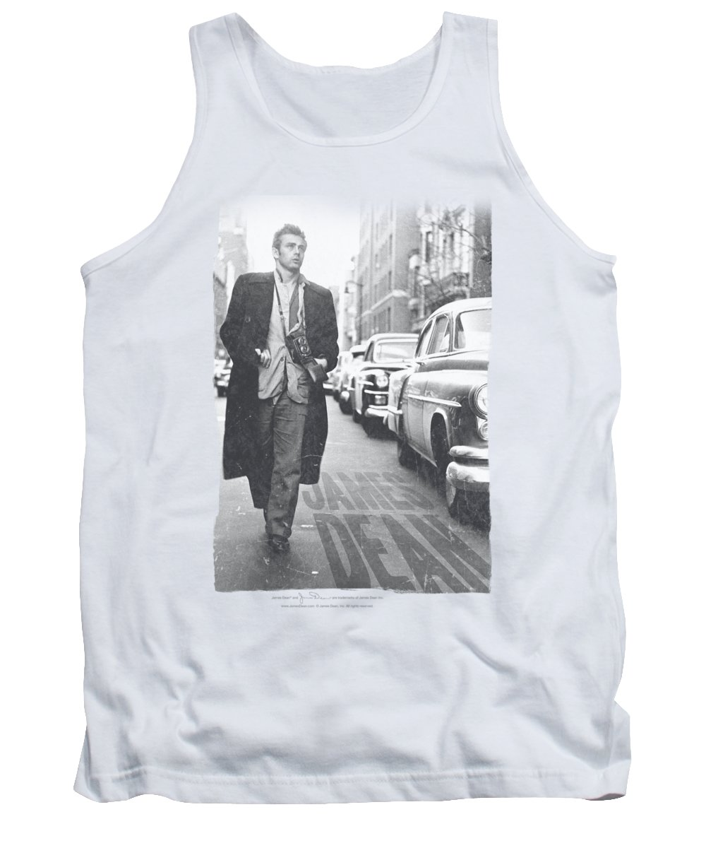 James Dean Tank Top featuring the digital art Dean - On The Street by Brand A