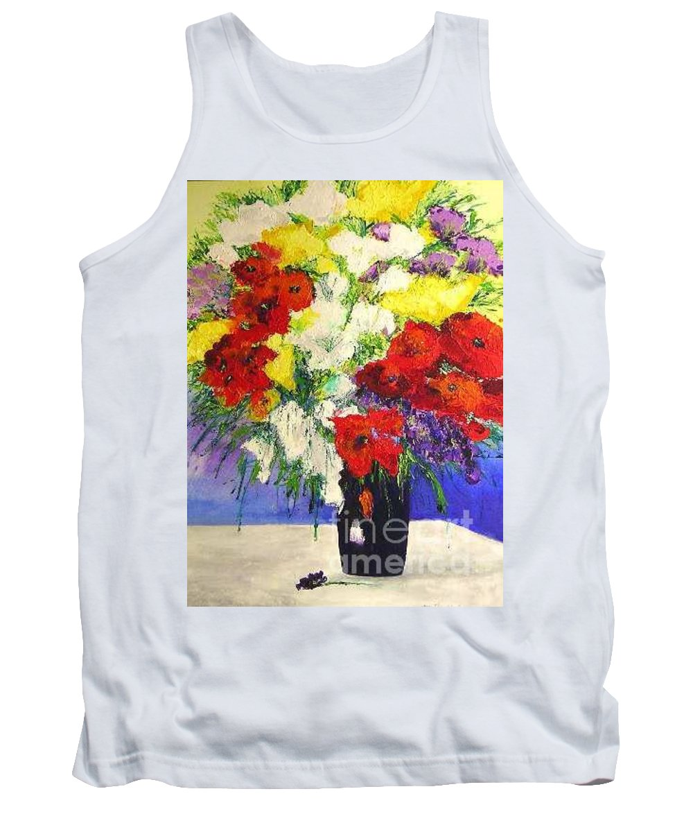 Landscape Tank Top featuring the painting Delightful by Allan P Friedlander