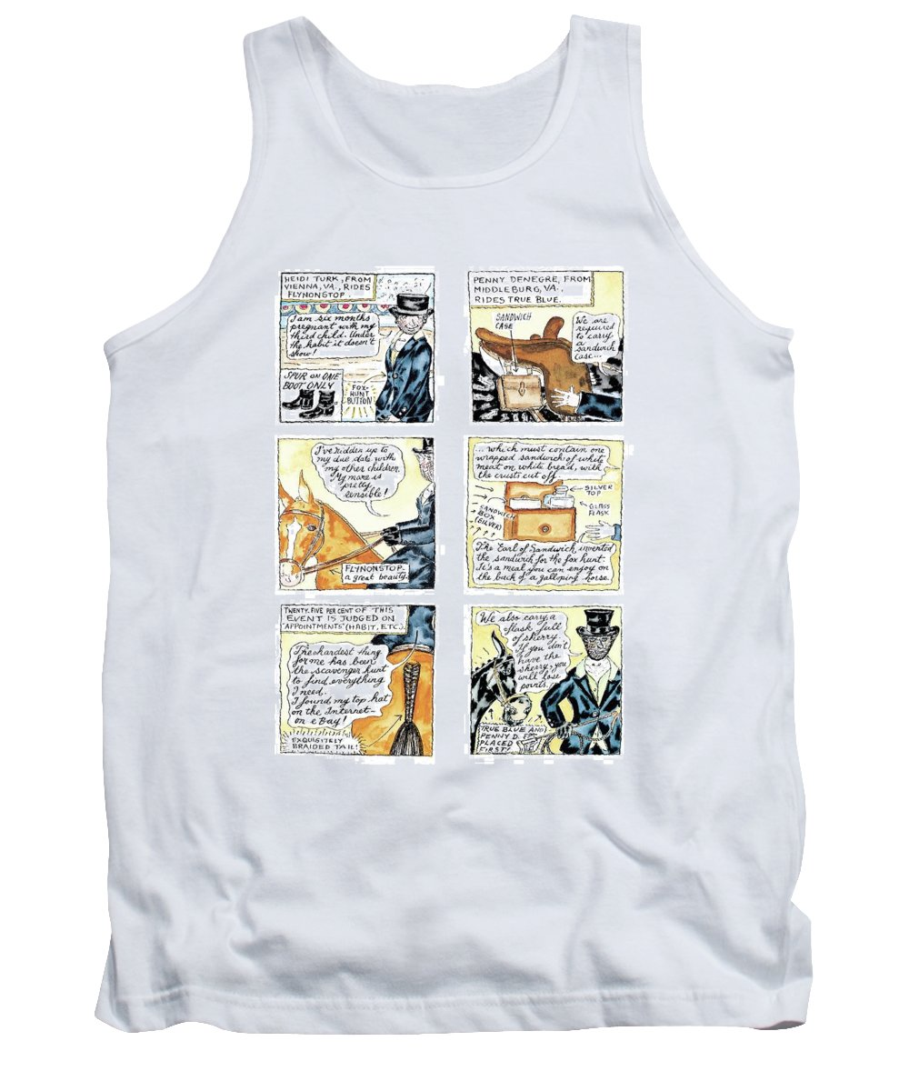 Turk Tank Top featuring the drawing 'dept. Of Equitation' by Victoria Roberts