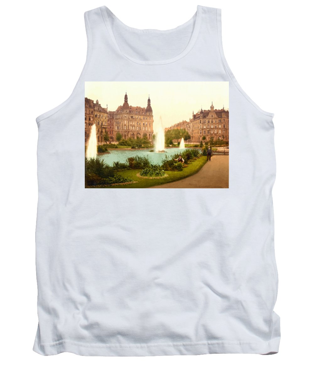 Retouched Tank Top featuring the digital art Der Deutsche Ring-cologne-the Rhine-germany - Between 1890 And by Don Kuing