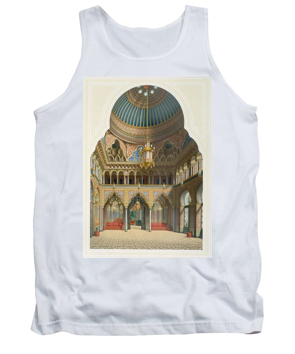Moorish Style Tank Top featuring the drawing Design For The Entrance Hall by Karl Ludwig Wilhelm Zanth