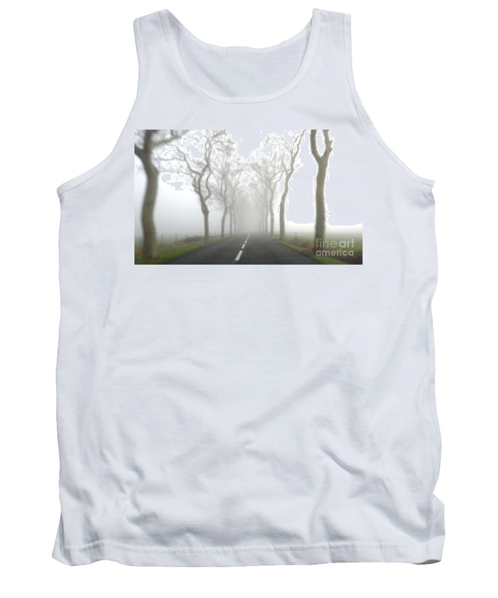 Fog Tank Top featuring the photograph Destination Unknown by France Art