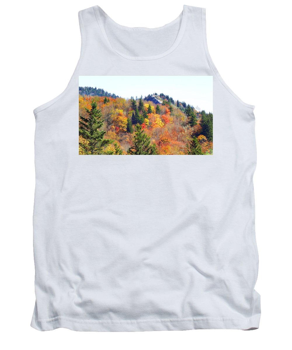 Devil's Courthouse Tank Top featuring the photograph Devil's Courthouse In The Fall by Duane McCullough