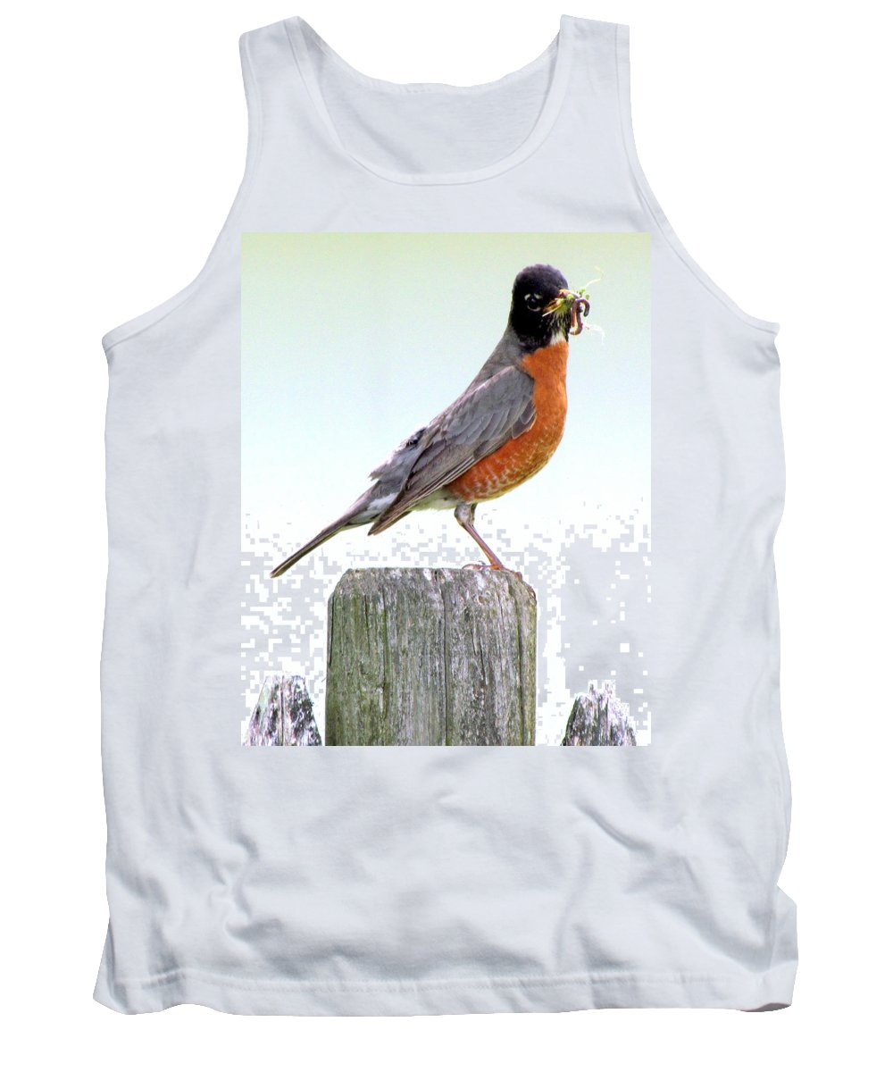 Birds Tank Top featuring the photograph Dinner's Ready by Lori Pessin Lafargue