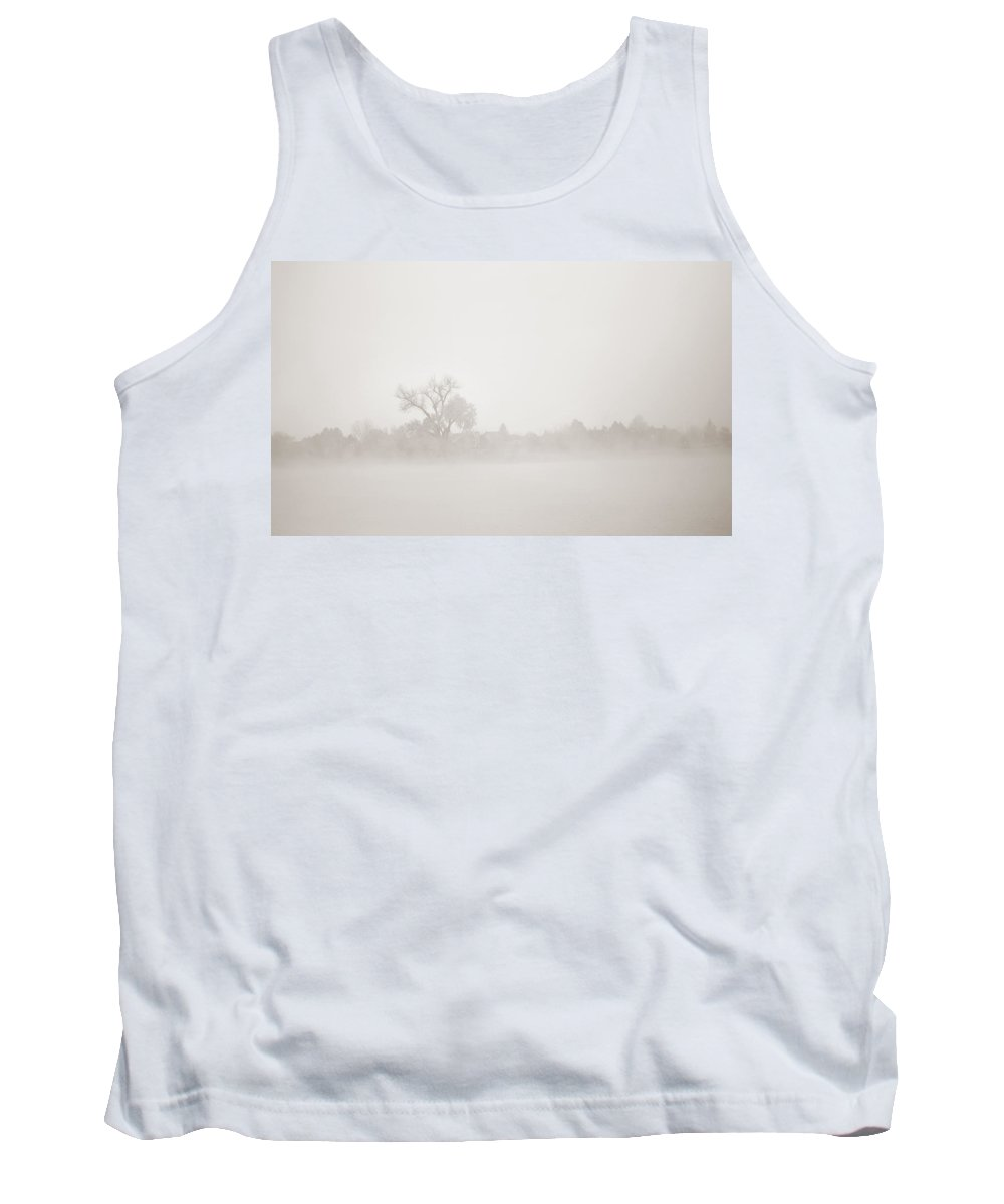 Fog Tank Top featuring the photograph Distant Shoreline by Marilyn Hunt