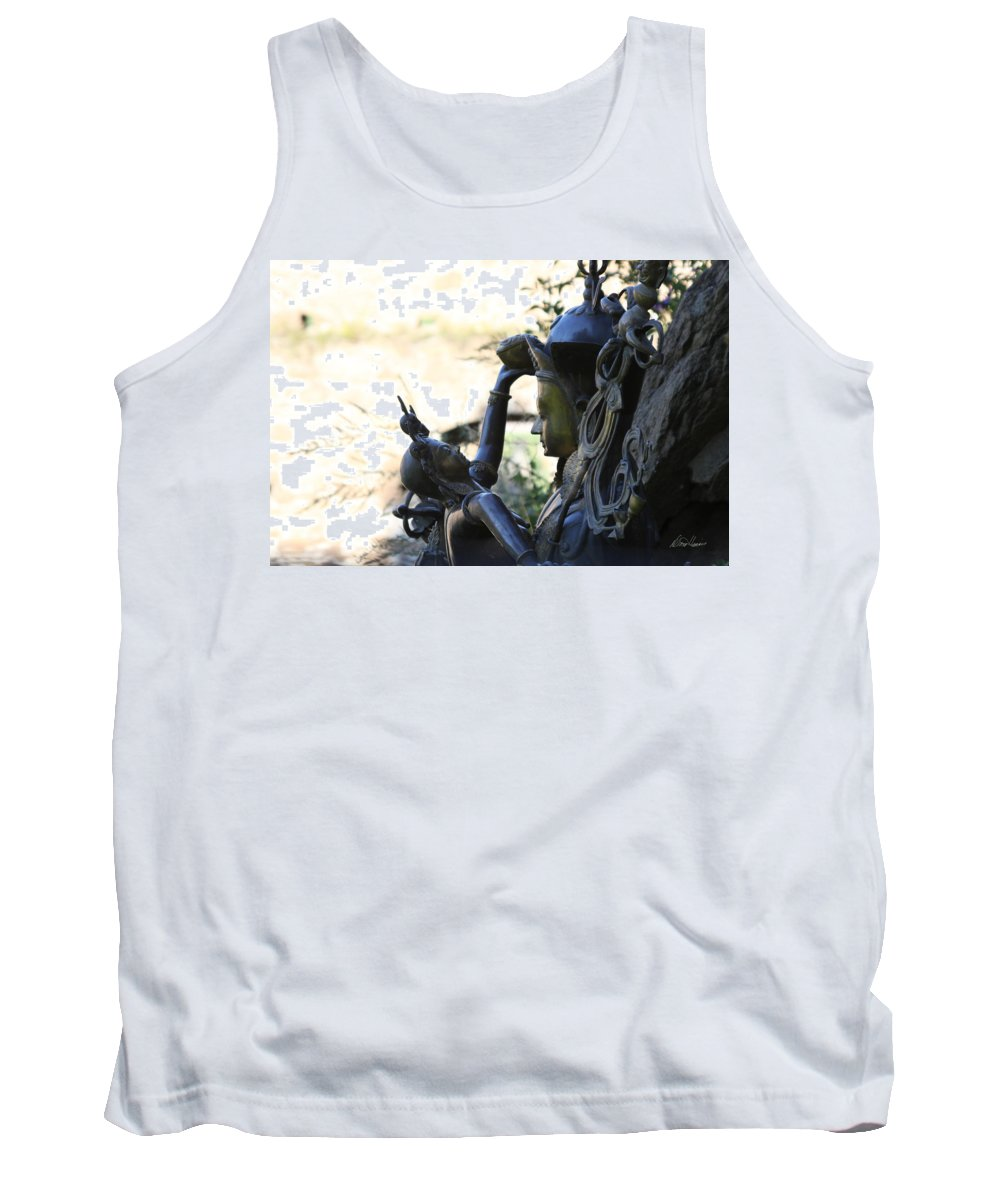 Hindu Tank Top featuring the photograph Divine Mother And Child by Diana Haronis