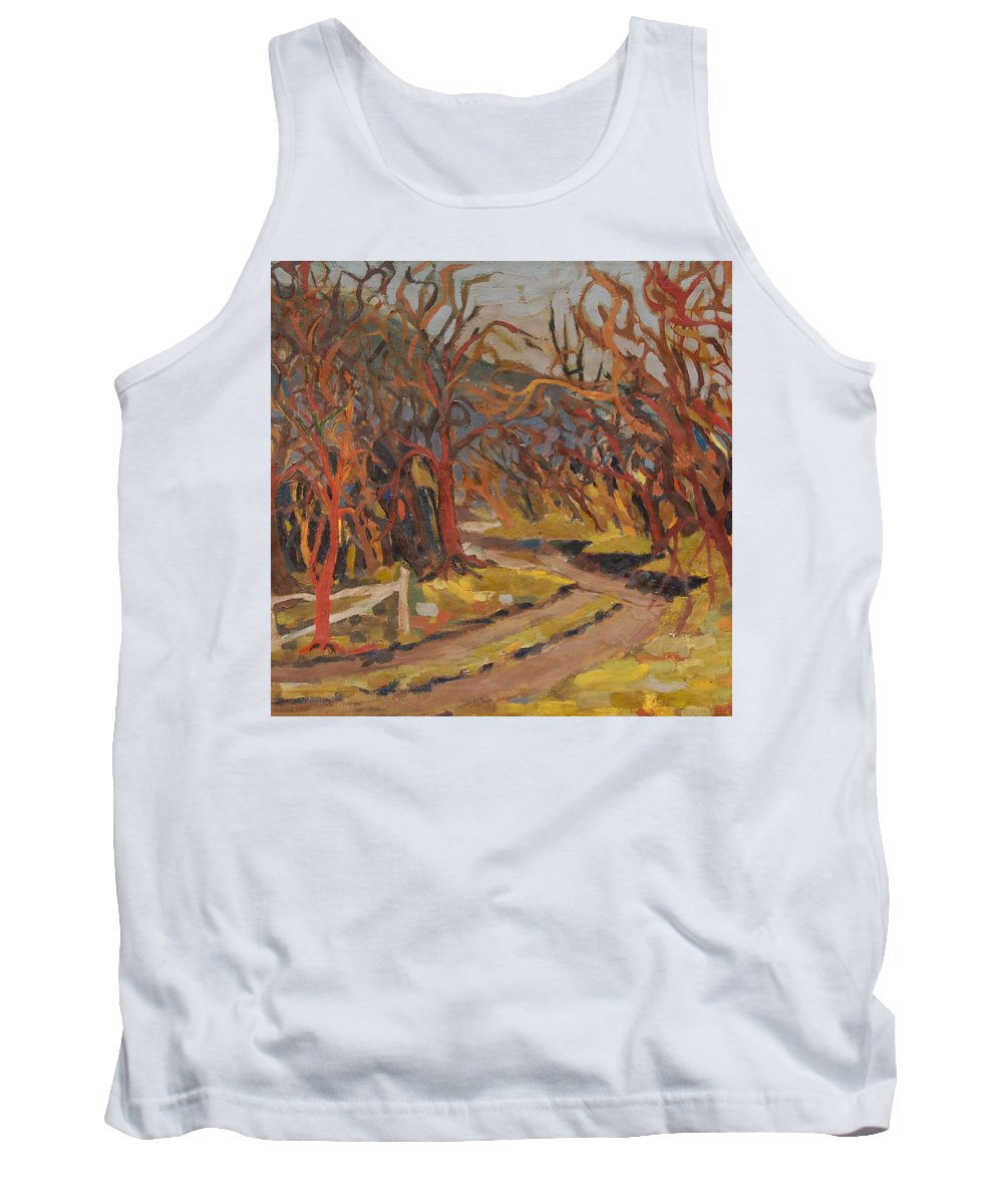 Woods Tank Top featuring the painting Doctor Ortons Farm by Ken Church