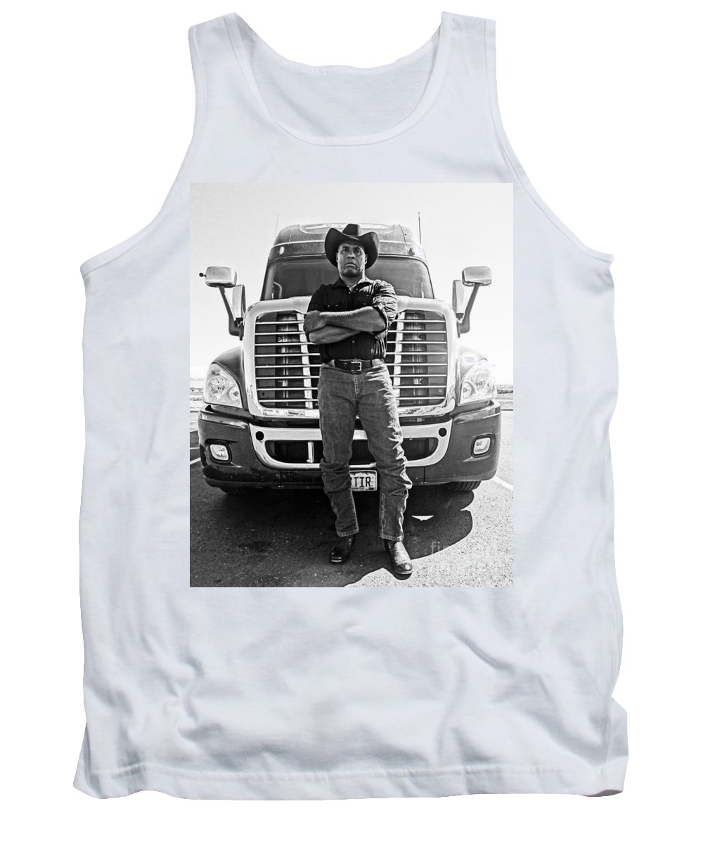Truck Tank Top featuring the photograph Don't Mess With My Truck by Korynn Neil