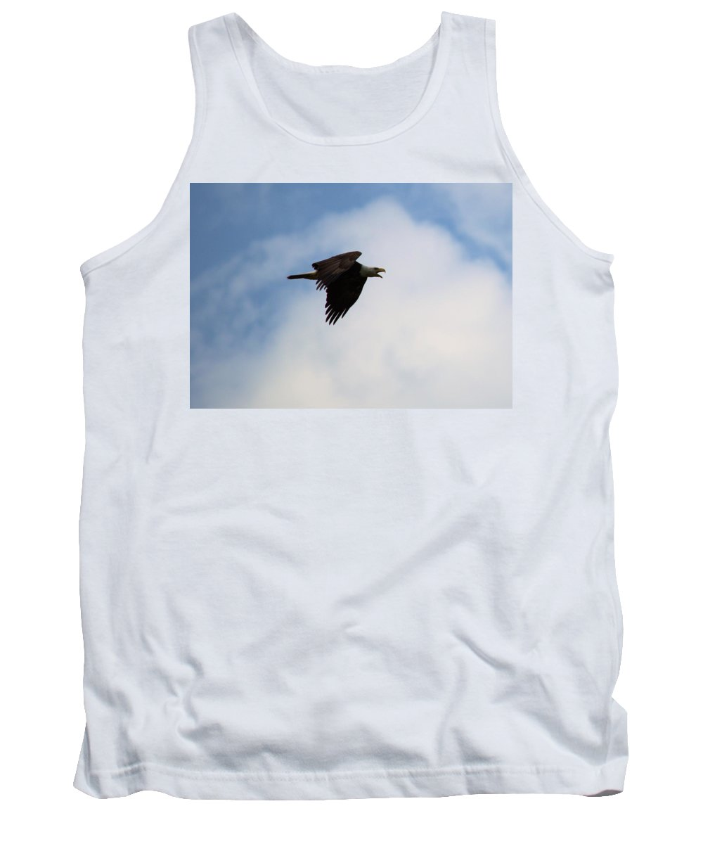 Eagle Tank Top featuring the photograph Dougherty Iowa Eagles 4 by Bonfire Photography