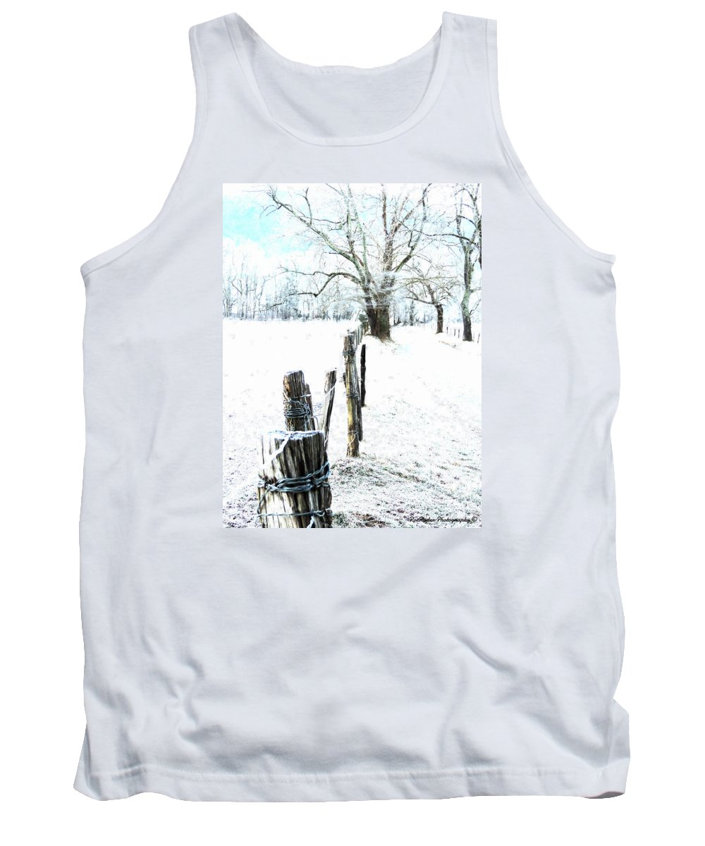 Cades Cove Tank Top featuring the photograph Down The Lane by Roe Rader