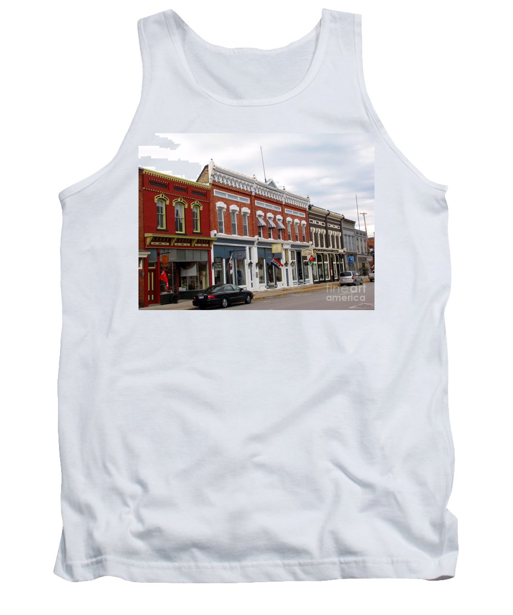 Manistee Tank Top featuring the photograph Downtown Manistee Michigan by Terri Gostola