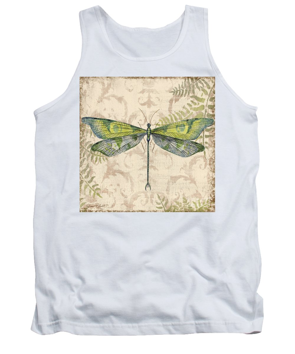 Painting Tank Top featuring the painting Dragonfly Daydreams-c by Jean Plout