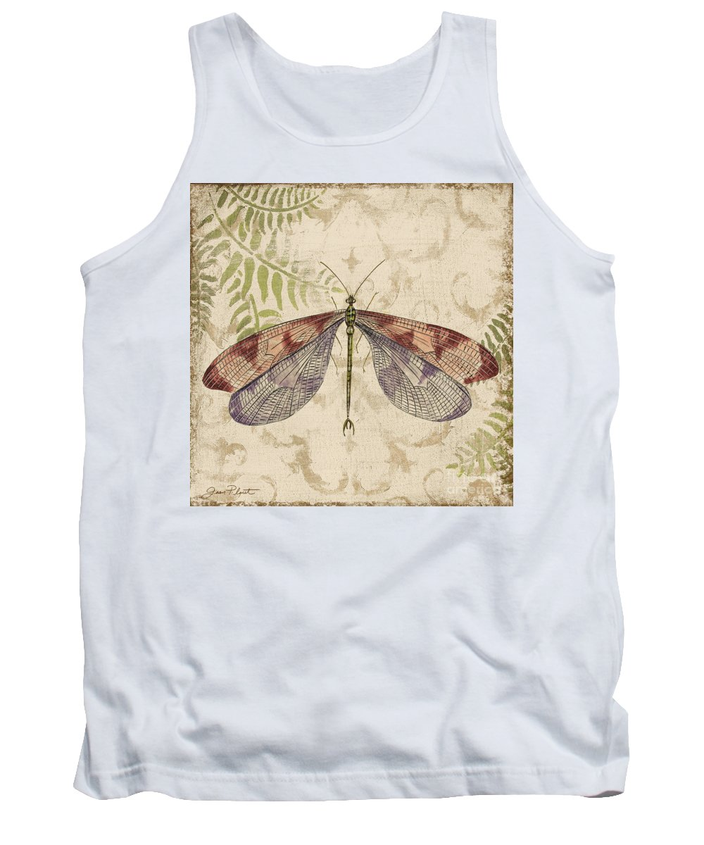 Painting Tank Top featuring the painting Dragonfly Daydreams-d by Jean Plout
