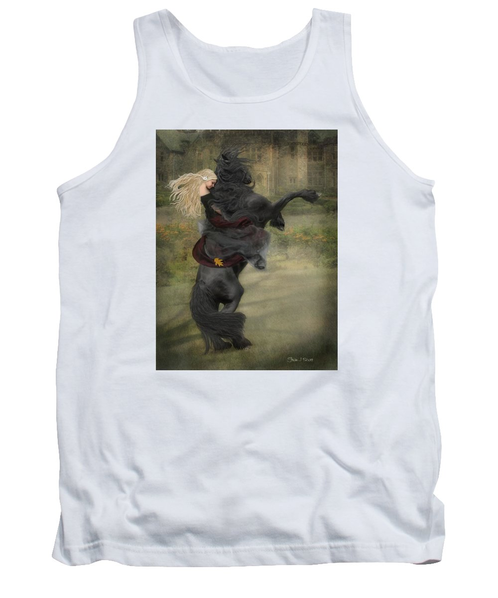 Horses Tank Top featuring the mixed media Dream A Little Dream... by Fran J Scott