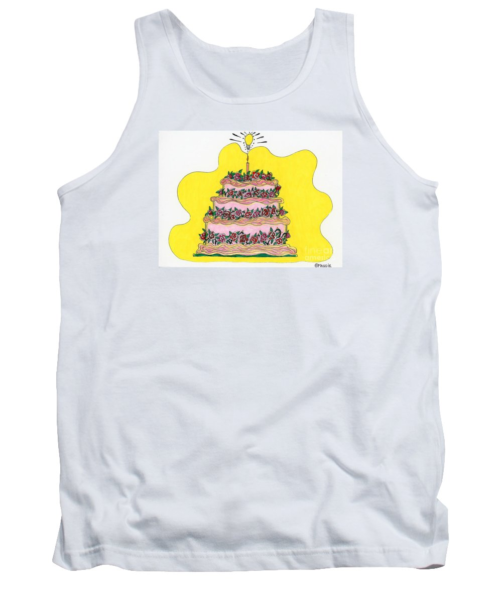 Cakes Tank Top featuring the painting Dream Cake by Maggie Pringle
