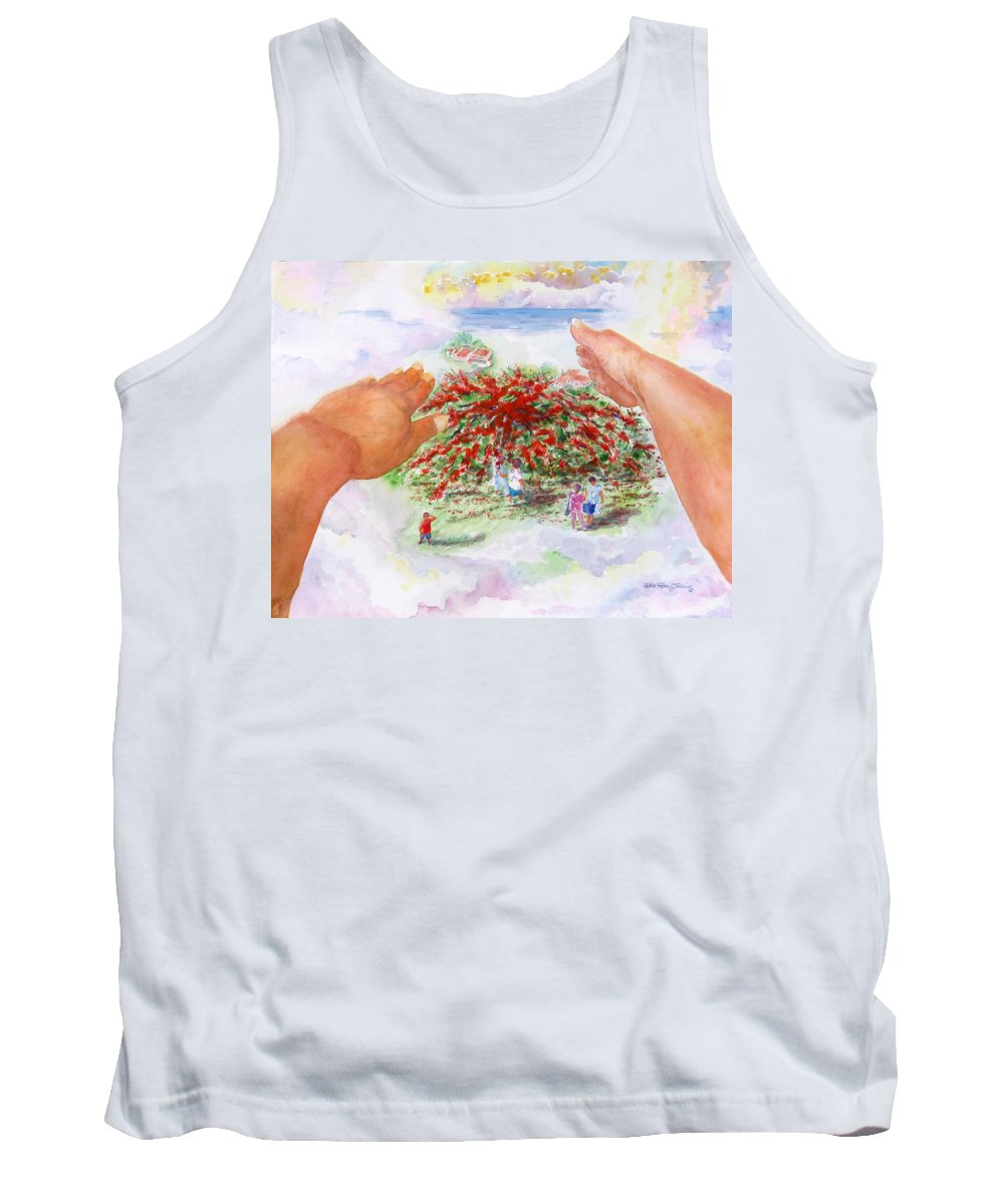 Watercolor Tank Top featuring the painting Dreaming Awake II by Estela Robles