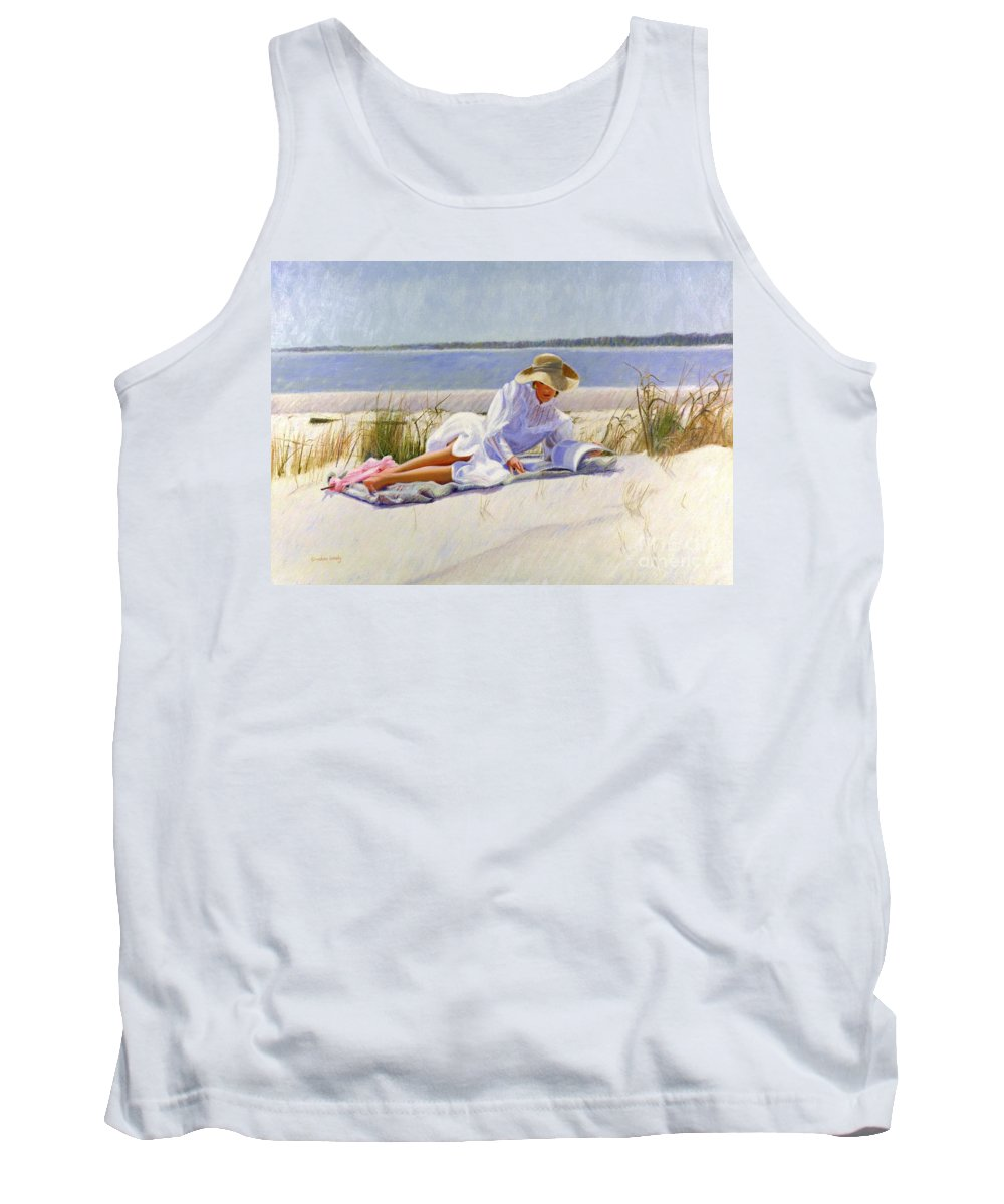 Impressionist Tank Top featuring the painting Dreams Of Fair Women I by Candace Lovely