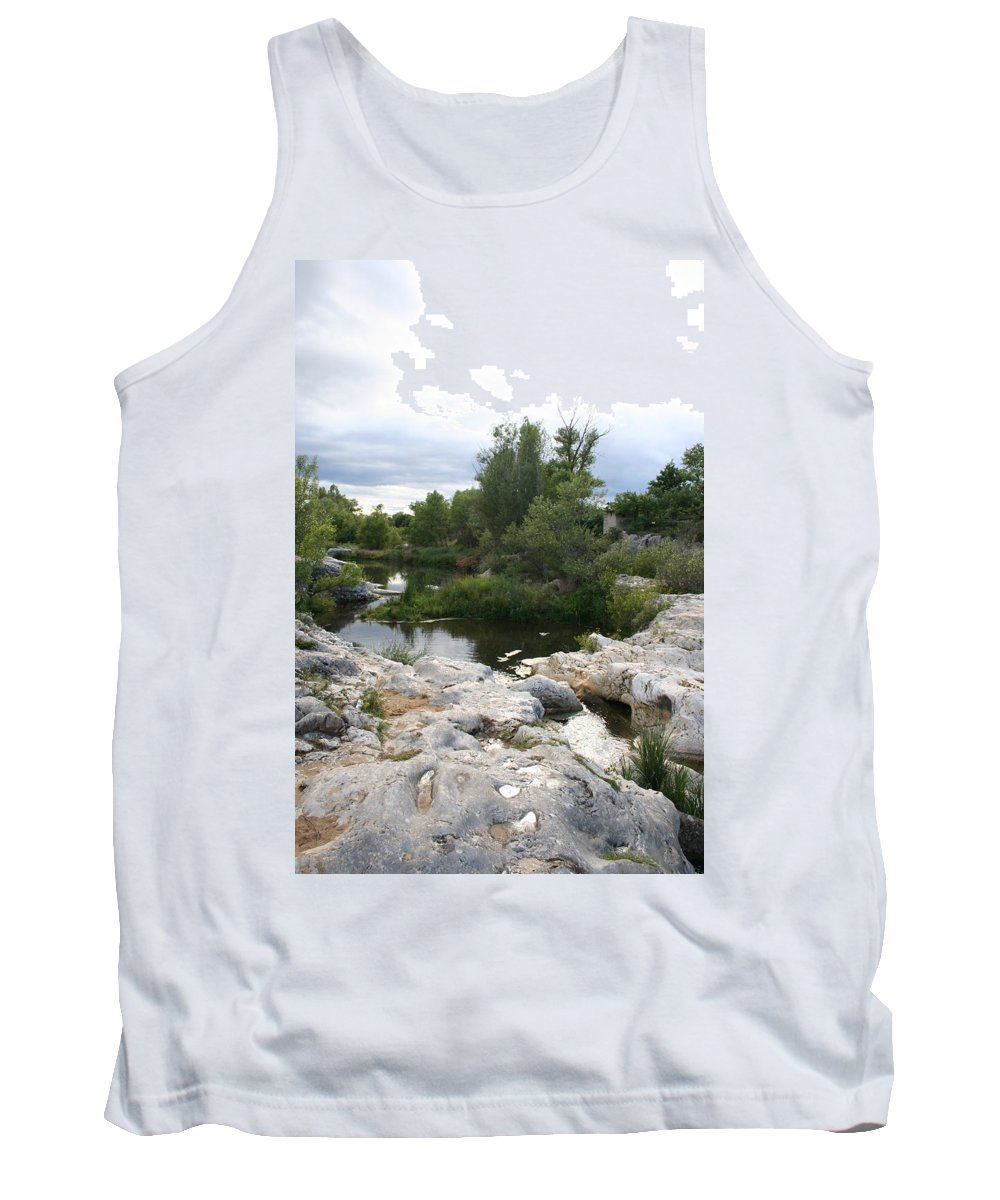 Stones Tank Top featuring the photograph Dreamy River by Christiane Schulze Art And Photography