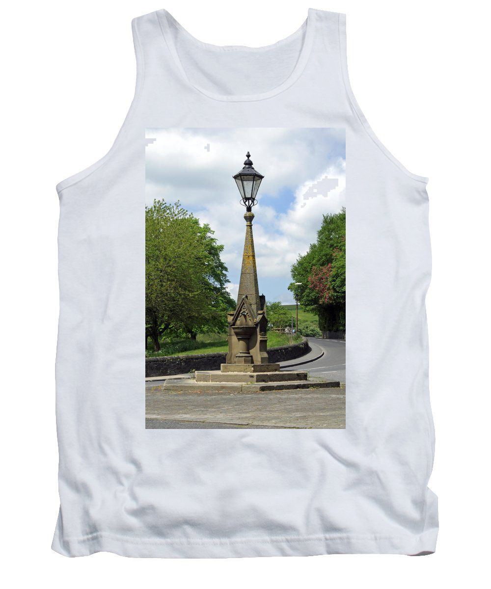 Derbyshire Tank Top featuring the photograph Drinking Fountain - Bakewell by Rod Johnson