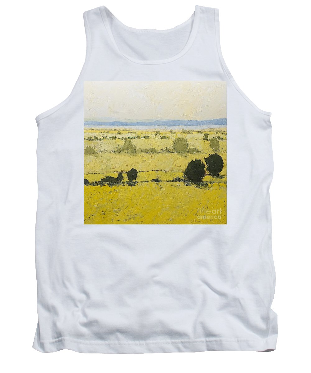 Landscape Tank Top featuring the painting Dry Grass by Allan P Friedlander