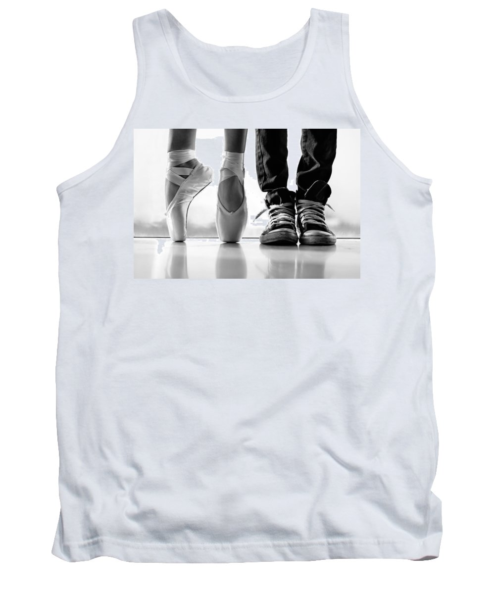 Dance Tank Top featuring the photograph Duet by Laura Fasulo