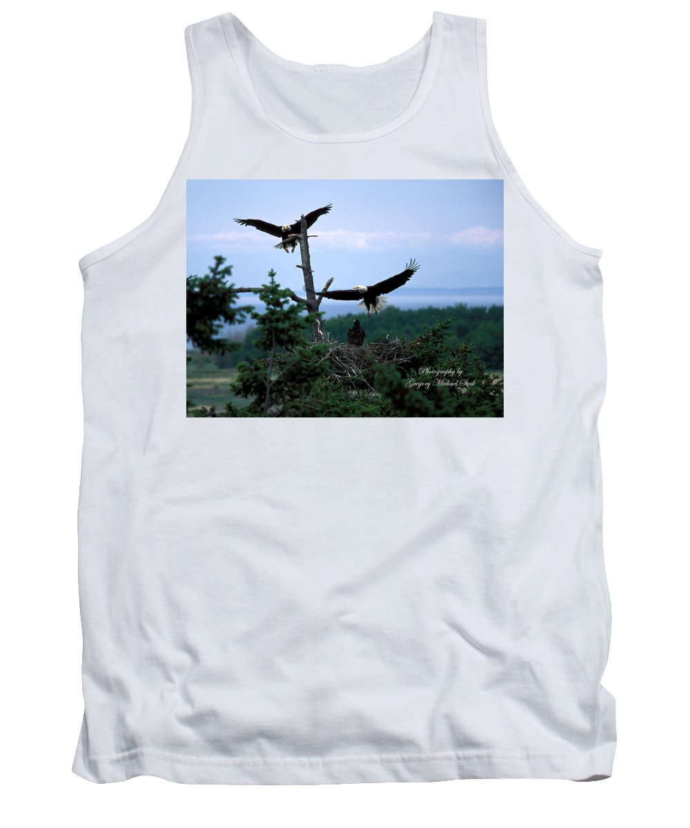 Eagles Tank Top featuring the photograph Eagle 3 by Safe Haven Photography Northwest