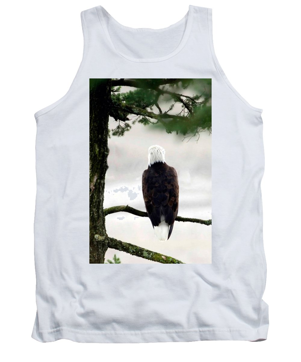 Tank Top featuring the photograph Eagles View by Randy Giesbrecht