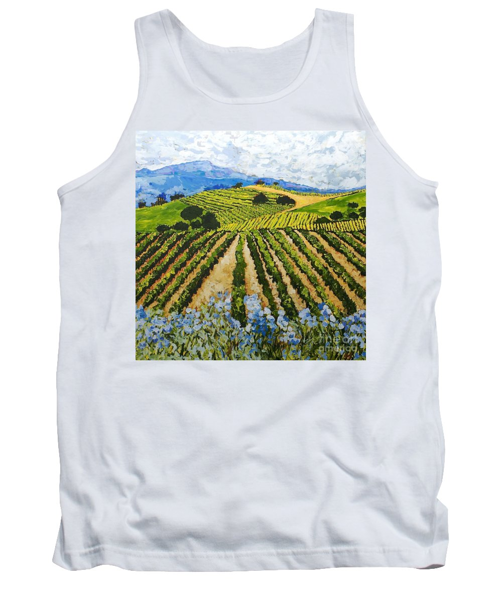 Landscape Tank Top featuring the painting Early Crop by Allan P Friedlander
