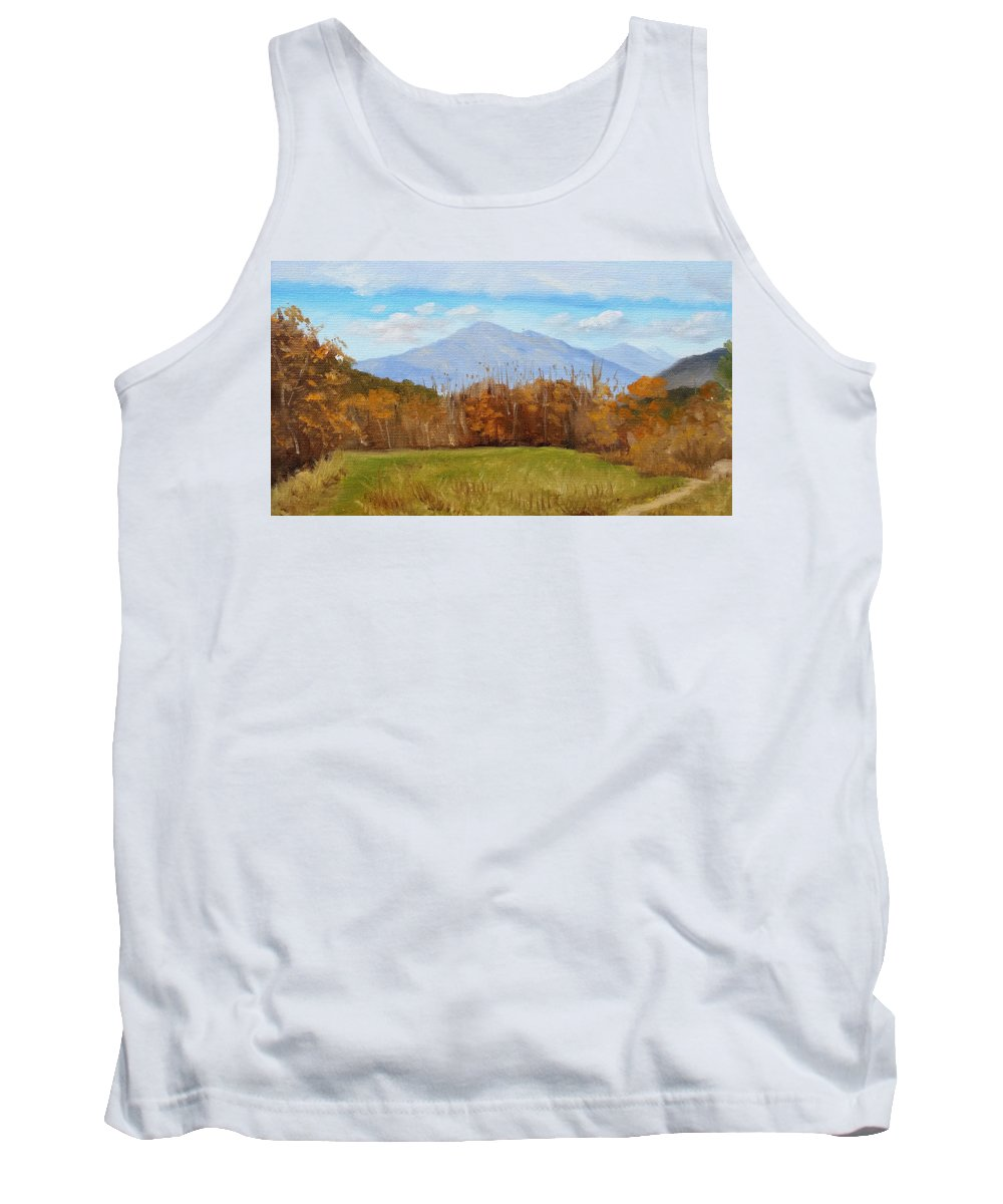 Mountains Tank Top featuring the painting Early November at First Bridge by Sharon E Allen