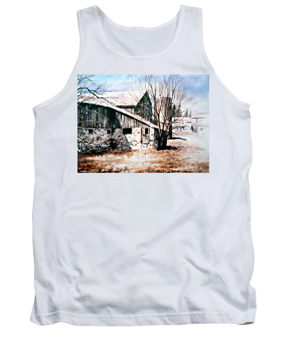 Farmyard Tank Top featuring the painting Early Spring by Hanne Lore Koehler