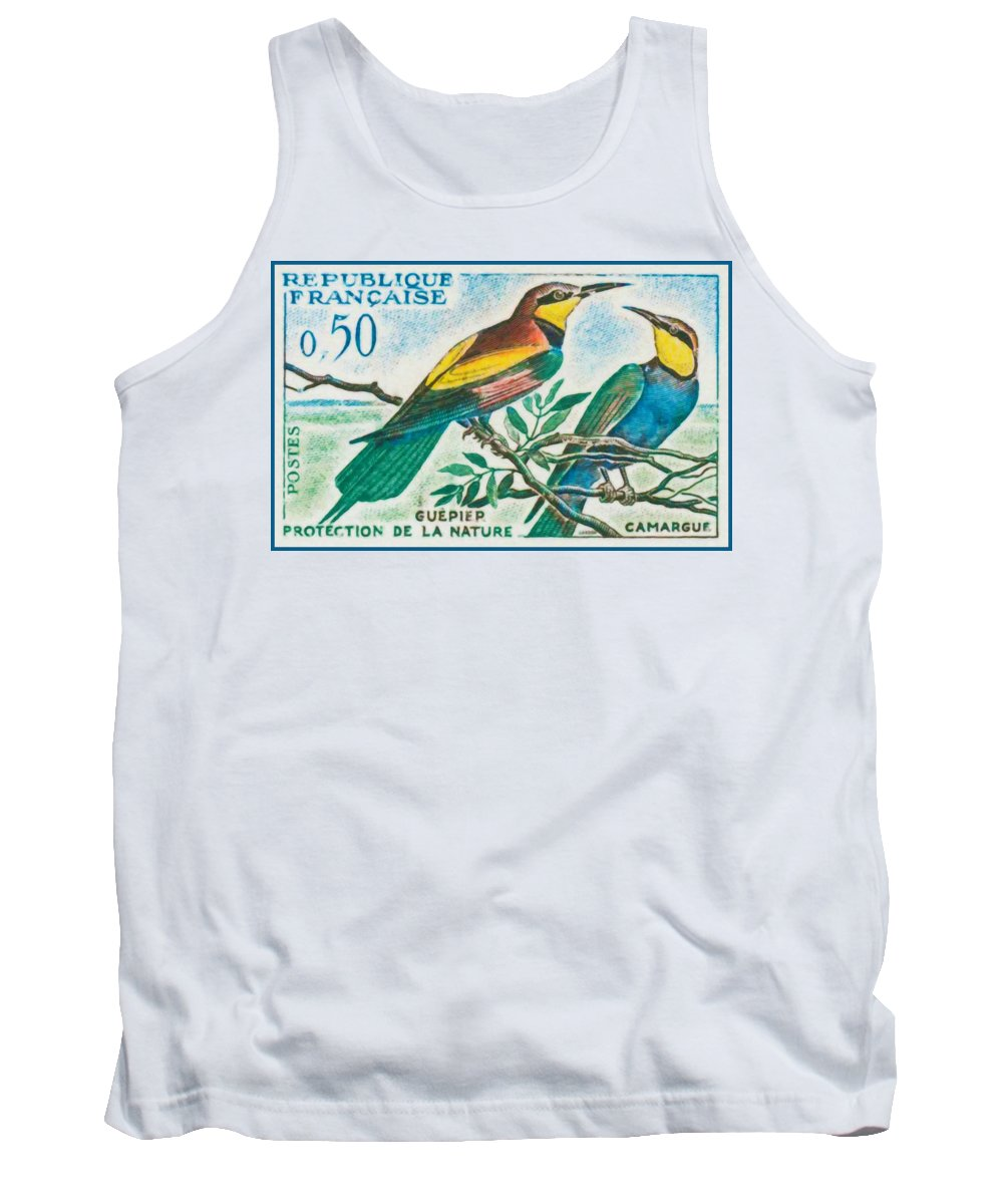 Nature Tank Top featuring the painting Eater Conservation Camargue by Jeelan Clark
