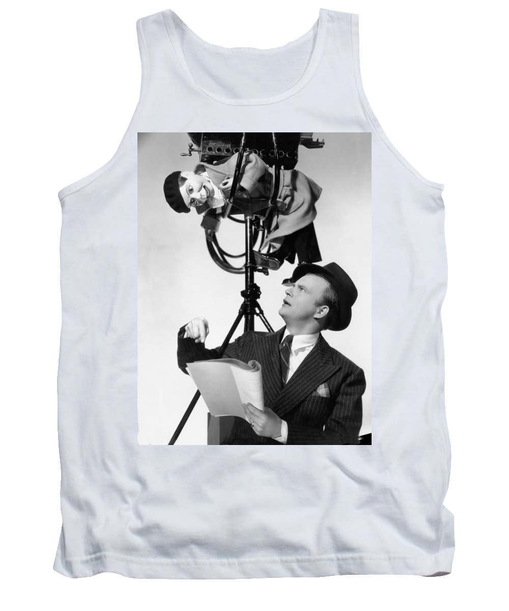 1939 Tank Top featuring the photograph Edgar Bergen/charlie Mccarthy by Underwood Archives