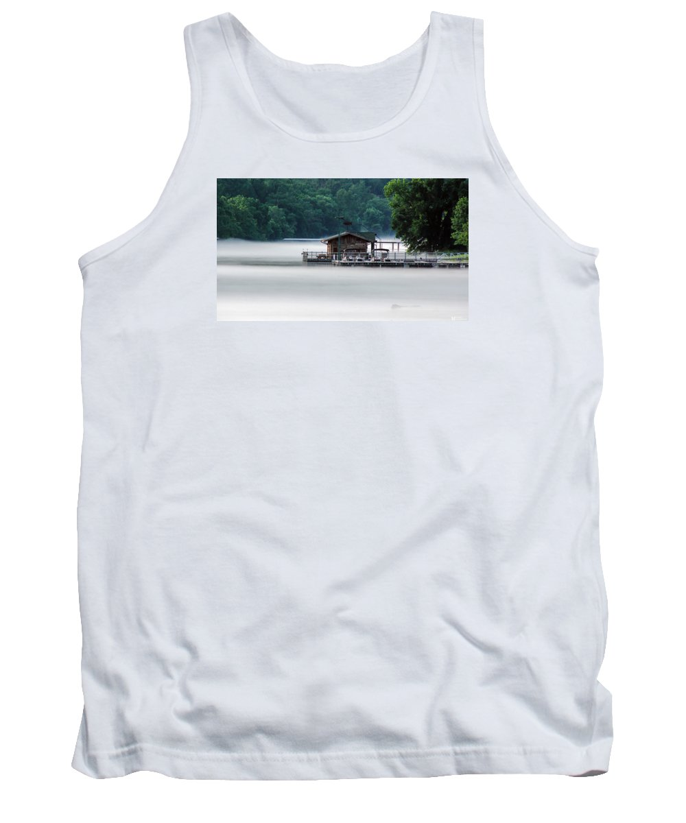 Lakes Tank Top featuring the photograph Eerie Day by Elaine Malott