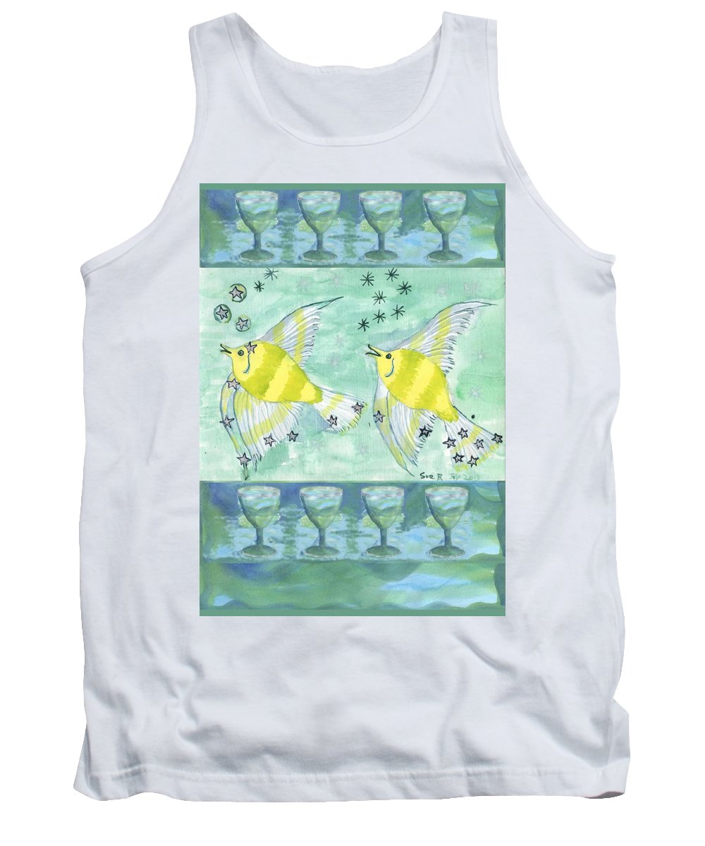 Tarot Tank Top featuring the painting Eight Of Cups by Sushila Burgess