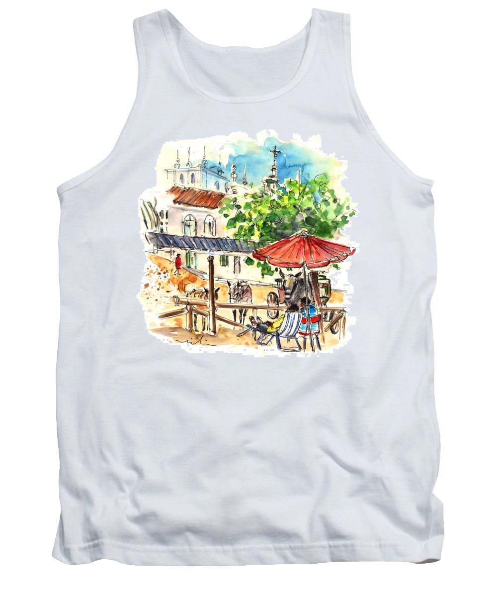 Travel Tank Top featuring the painting El Rocio 01 by Miki De Goodaboom