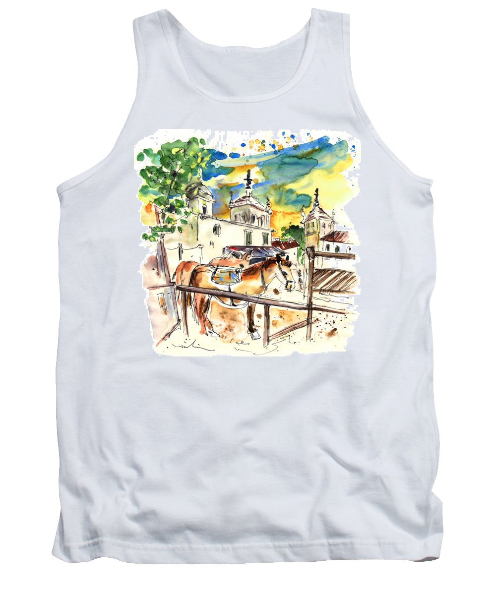 Travel Tank Top featuring the painting El Rocio 02 by Miki De Goodaboom