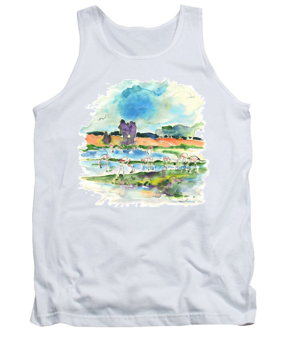 Travel Tank Top featuring the painting El Rocio 08 by Miki De Goodaboom