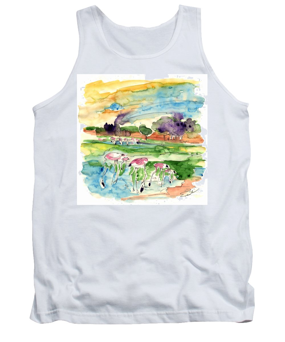 Travel Tank Top featuring the painting El Rocio 09 by Miki De Goodaboom