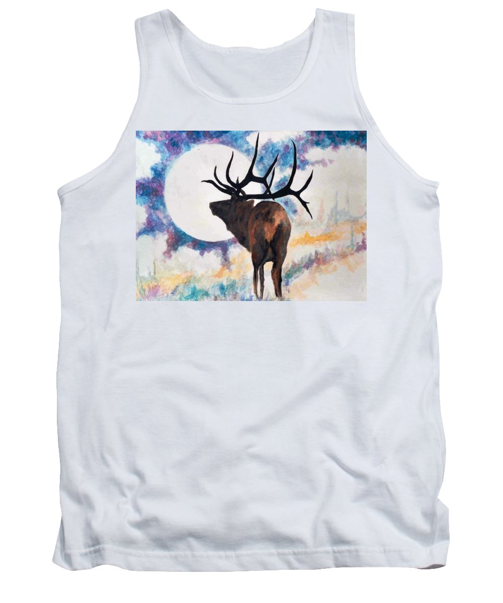 Lyle Tank Top featuring the painting Elk by Lord Frederick Lyle Morris - Disabled Veteran