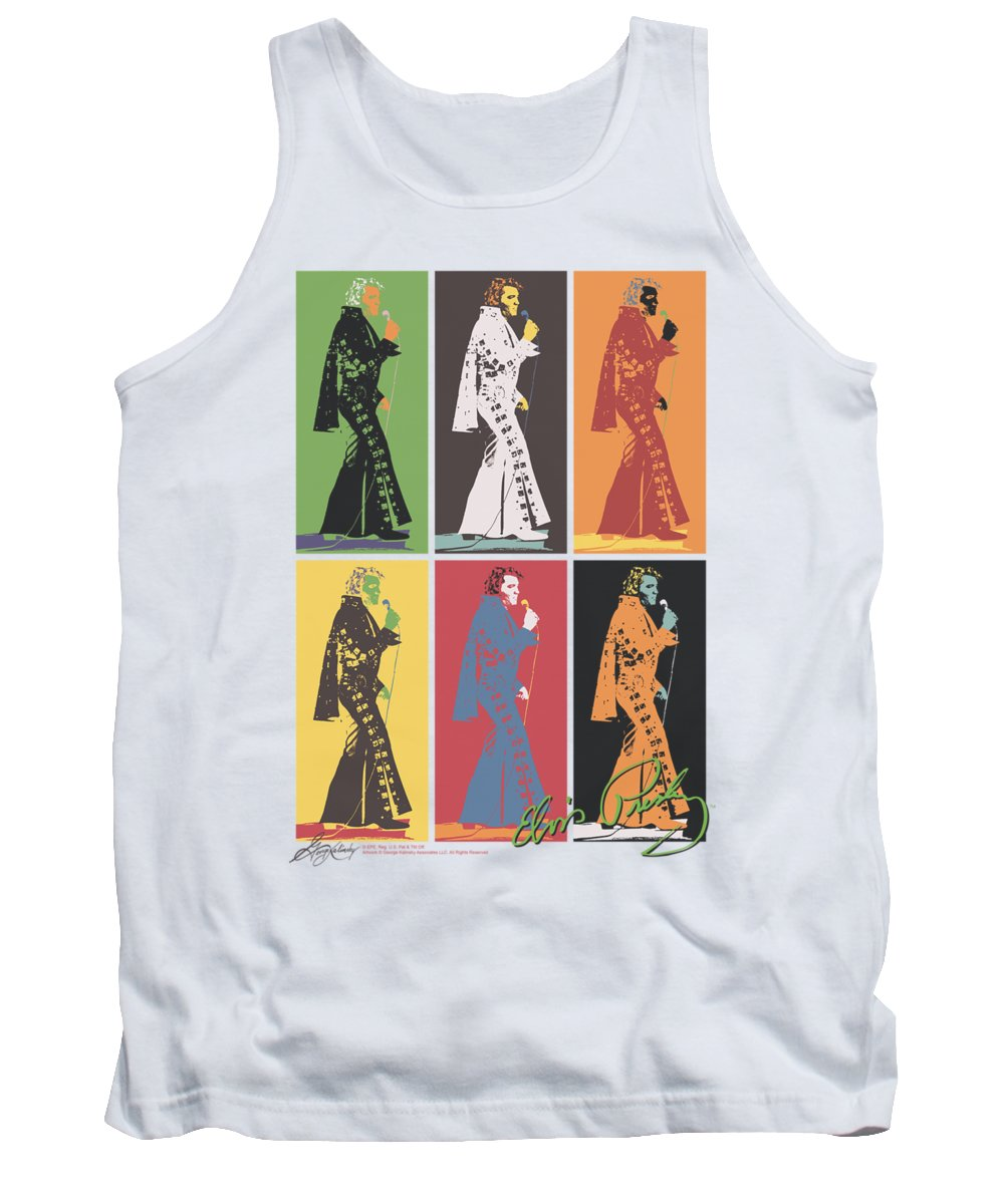 Elvis Tank Top featuring the digital art Elvis - Retro Boxes by Brand A