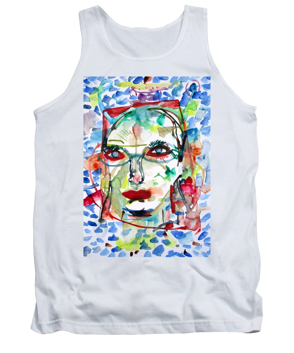 Woman Tank Top featuring the painting Emotional Rescue by Fabrizio Cassetta