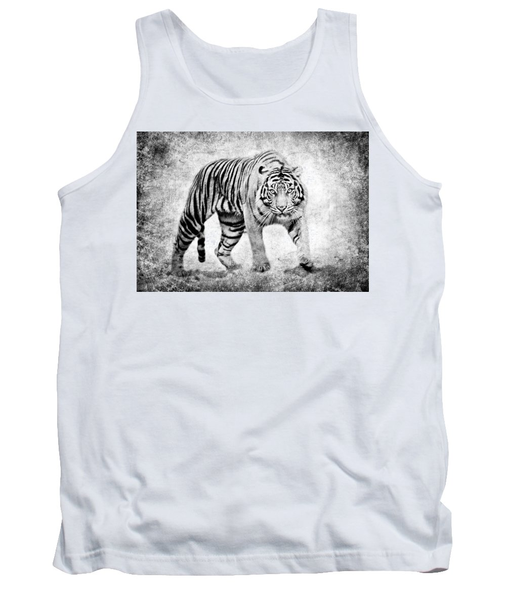Tiger Tank Top featuring the photograph Encounter II by Athena Mckinzie