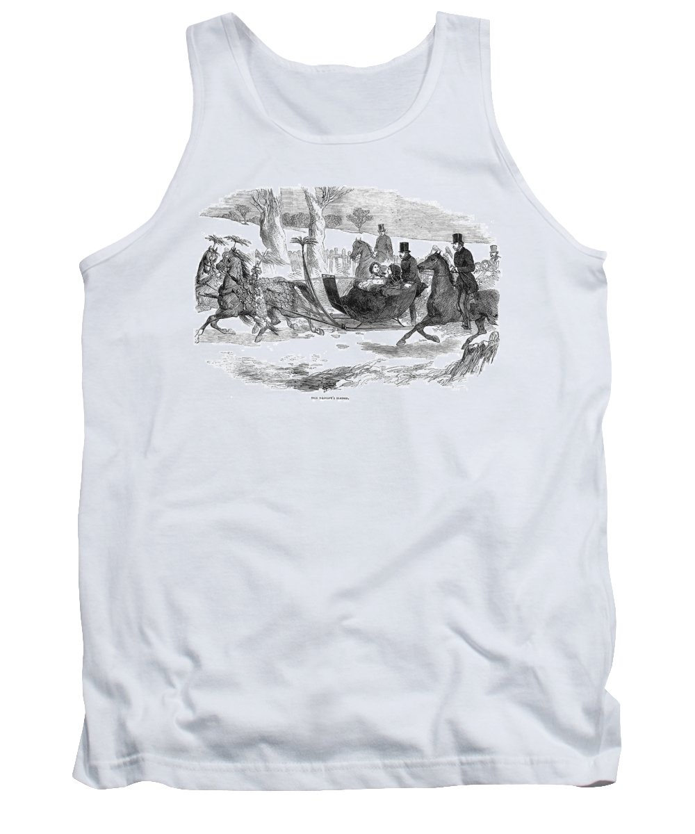 1854 Tank Top featuring the painting England Royal Sledge, 1854 by Granger