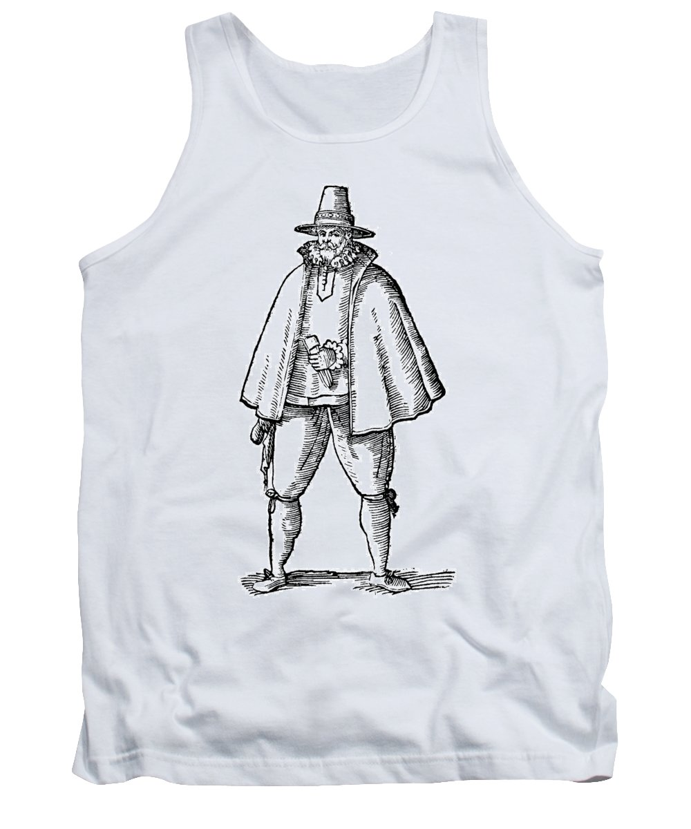 1598 Tank Top featuring the painting English Merchant, 1598 by Granger