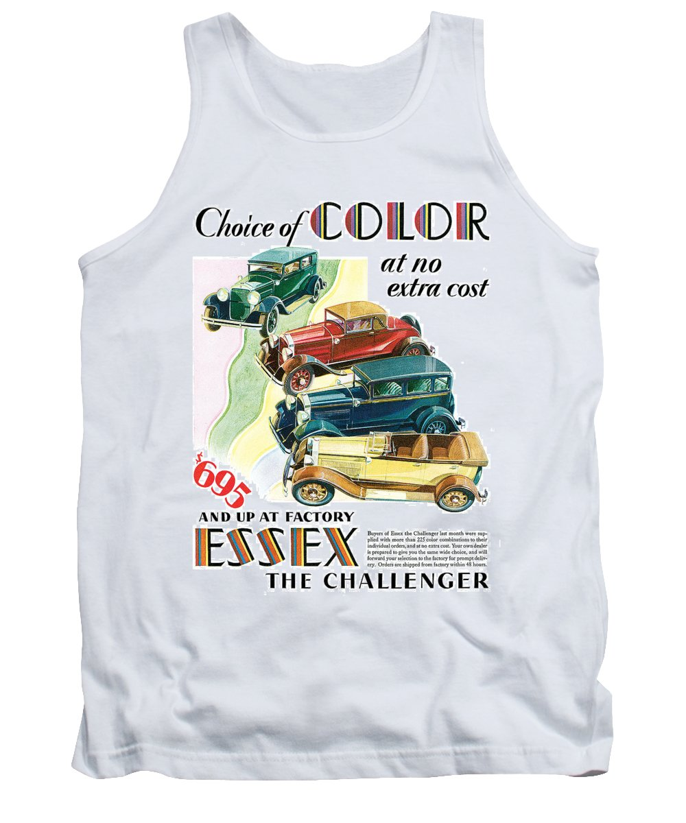 '30's Tank Top featuring the drawing Essex Challenger Vintage Poster by World Art Prints And Designs