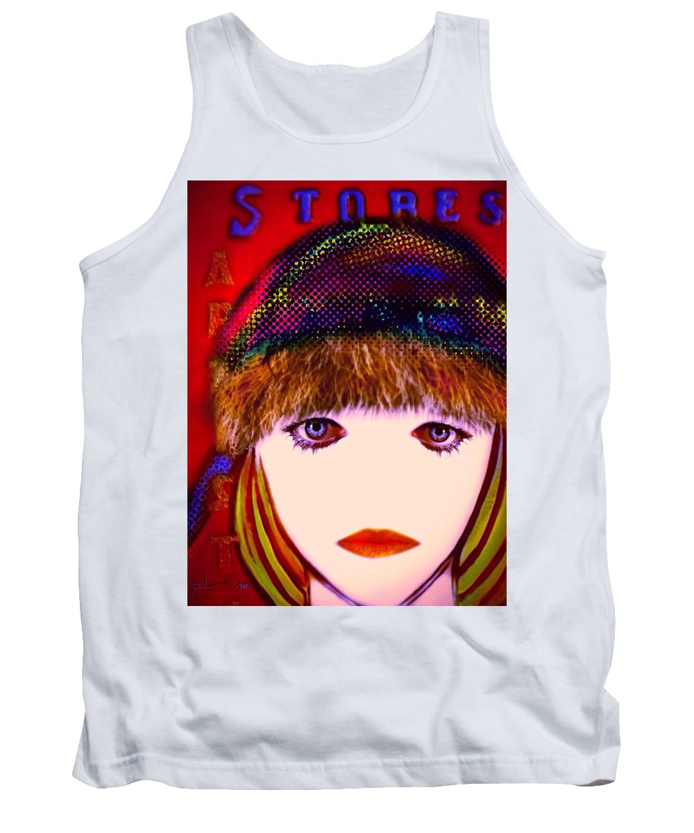 Estelle Tank Top featuring the digital art Estelle by Pikotine Art