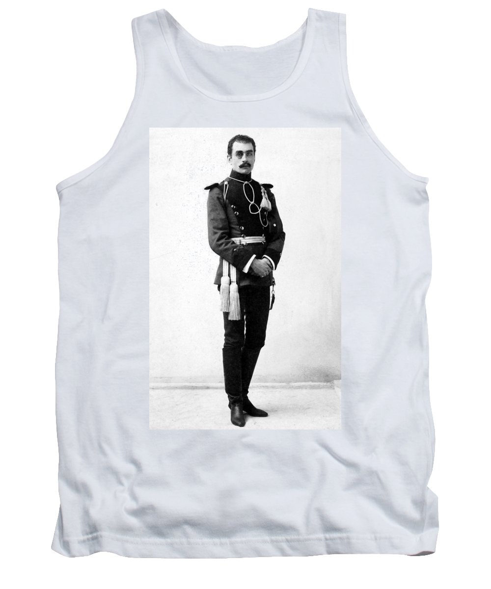 1890 Tank Top featuring the photograph European Officer, 1890s by Granger